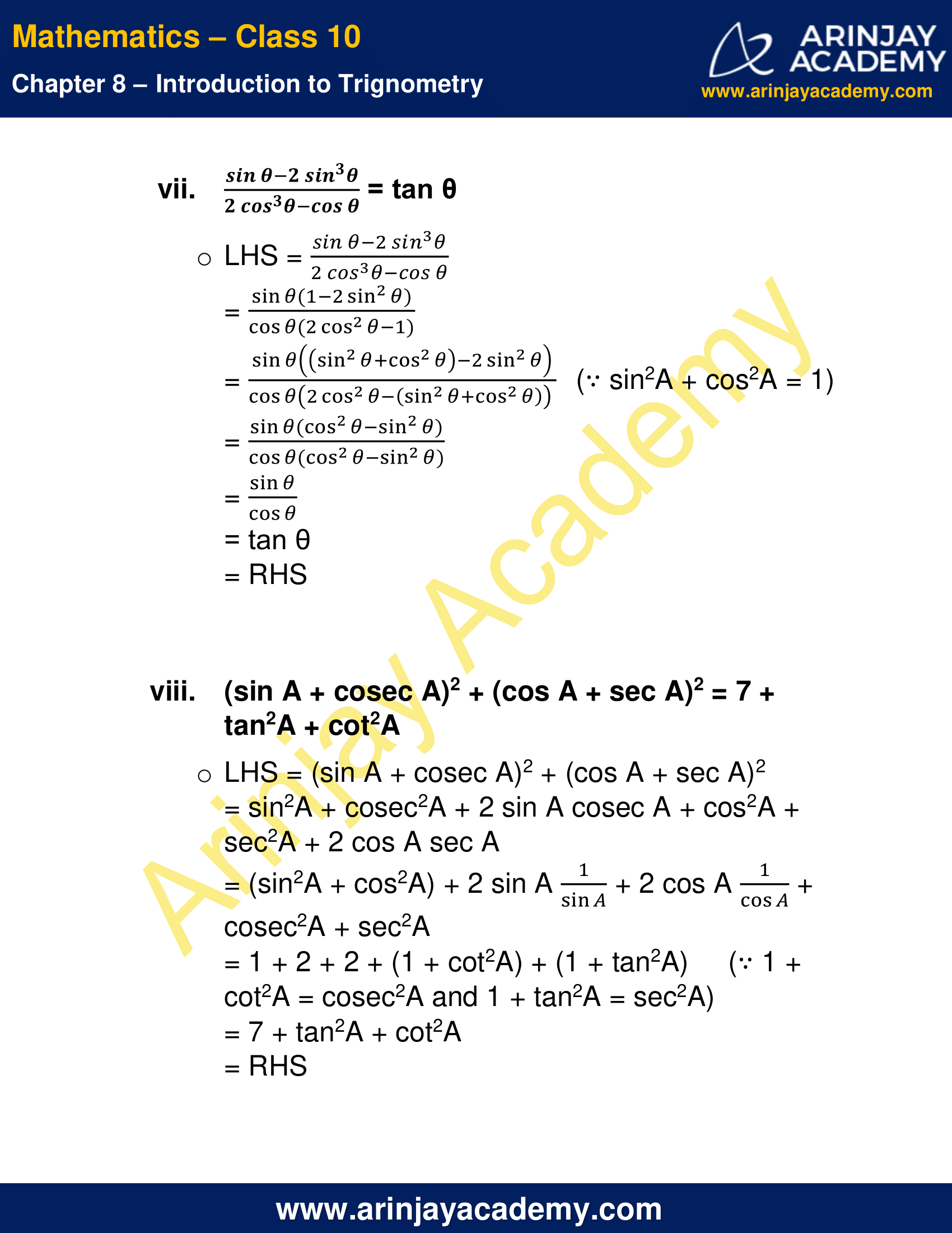 NCERT Solutions For Class 10 Maths Chapter 8 Exercise 8.4 image 10