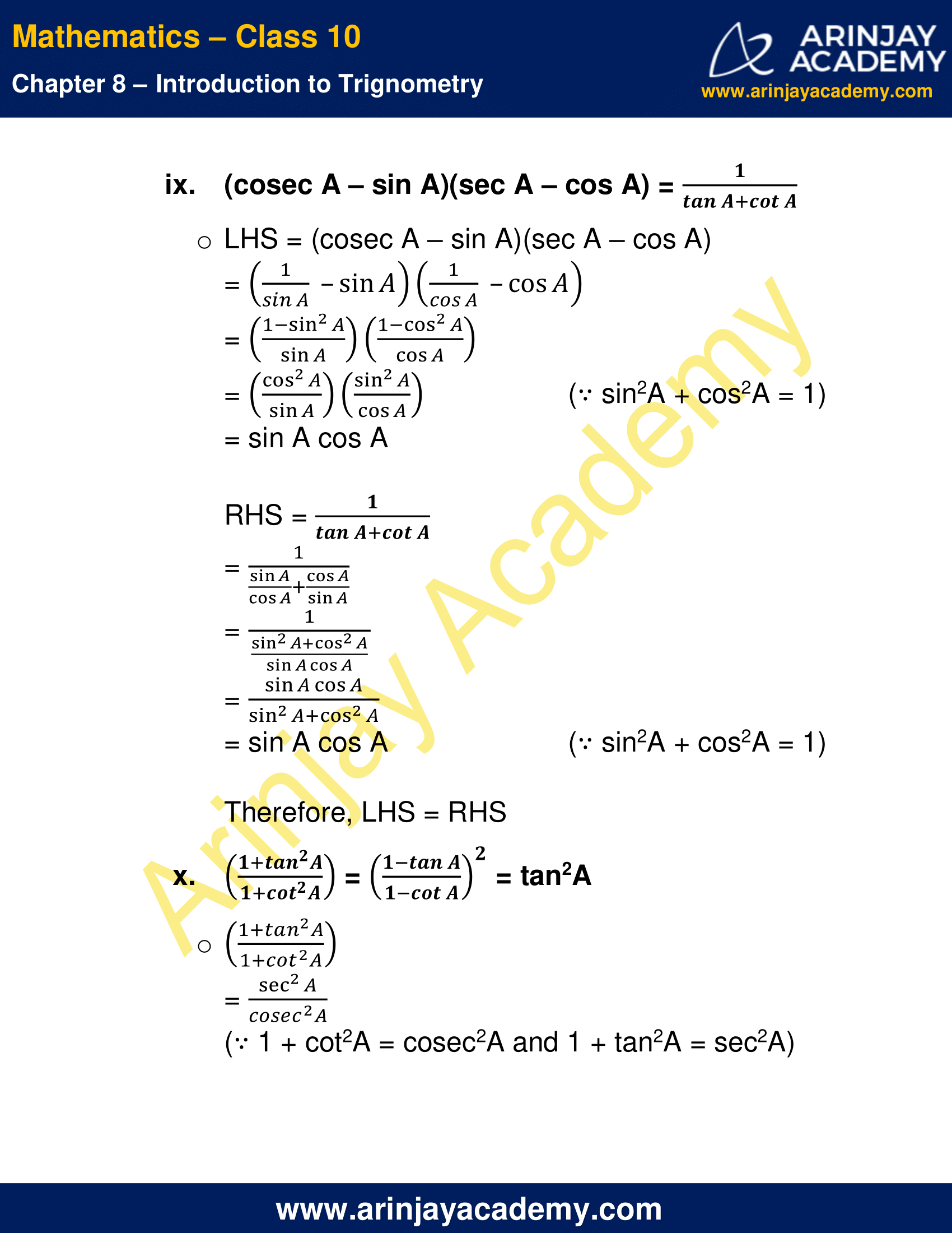NCERT Solutions For Class 10 Maths Chapter 8 Exercise 8.4 image 11