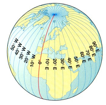 longitudes of the Earth