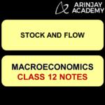 Stock and Flow concept in macroeconomics