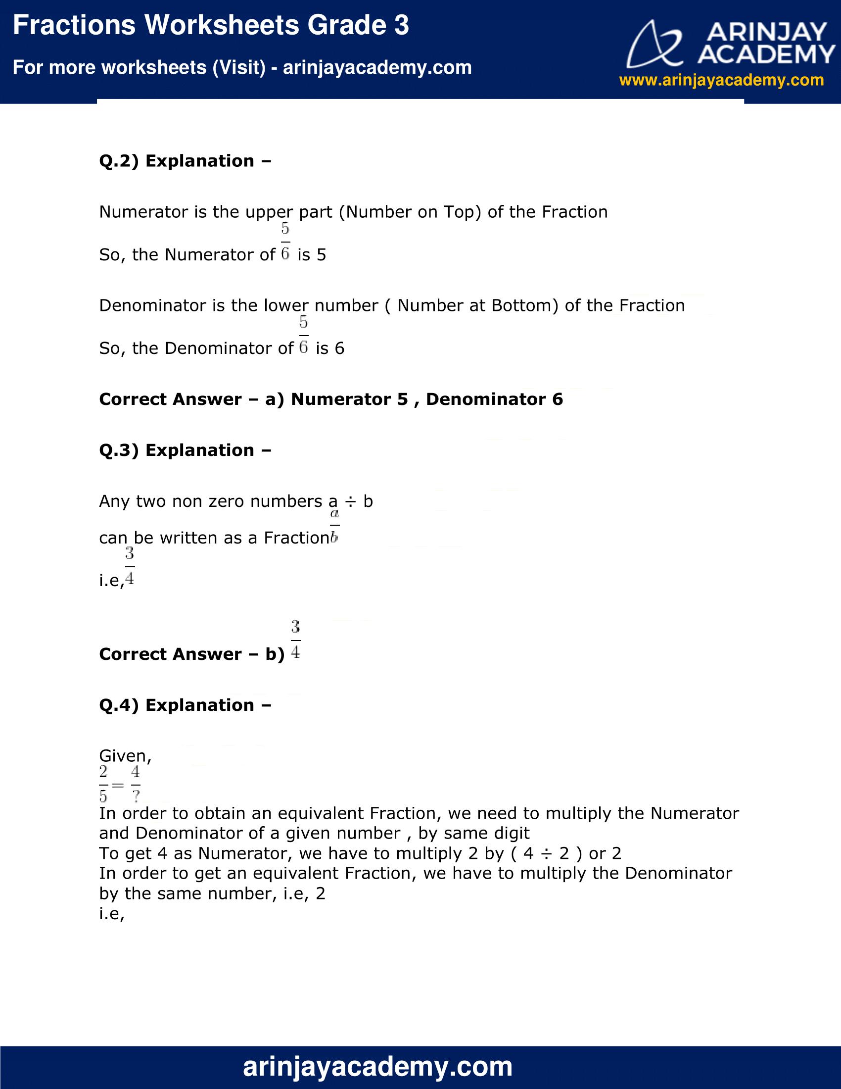 Fractions Worksheets Grade 3 image 4