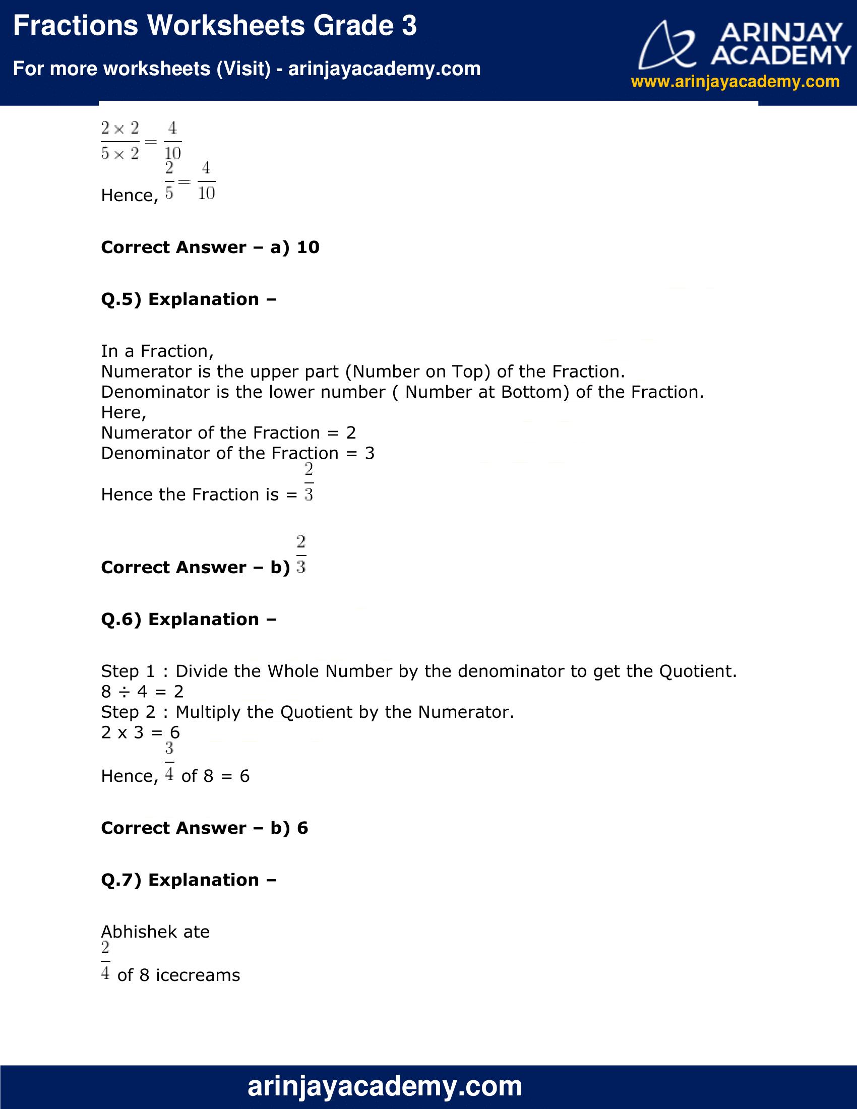 Fractions Worksheets Grade 3 image 5