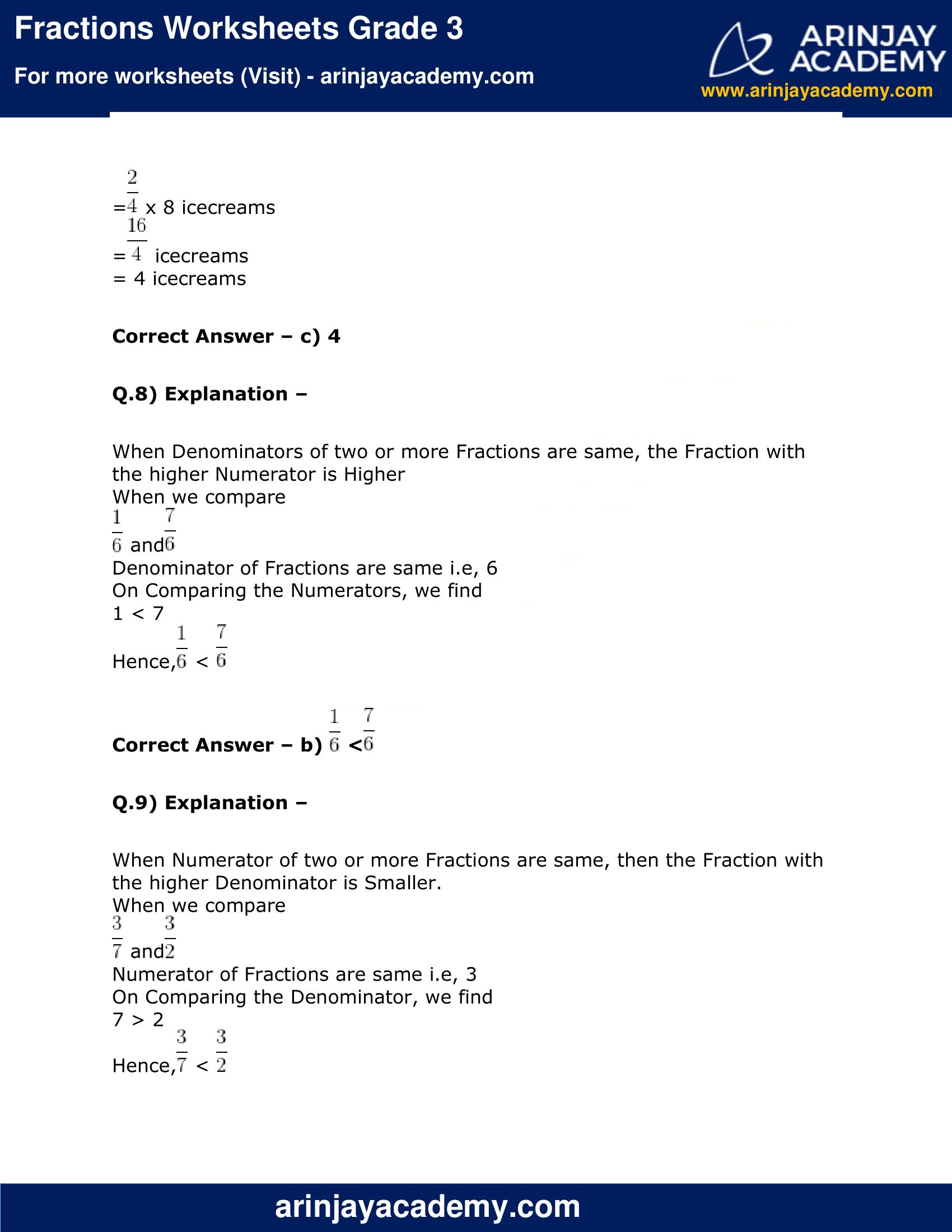 Fractions Worksheets Grade 3 image 6