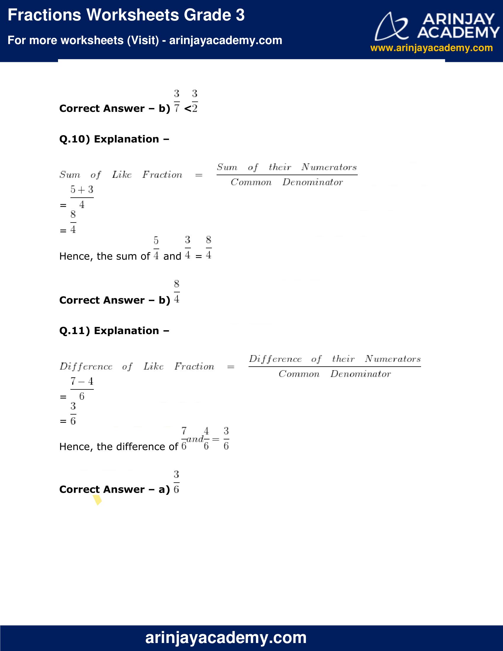 Fractions Worksheets Grade 3 image 7