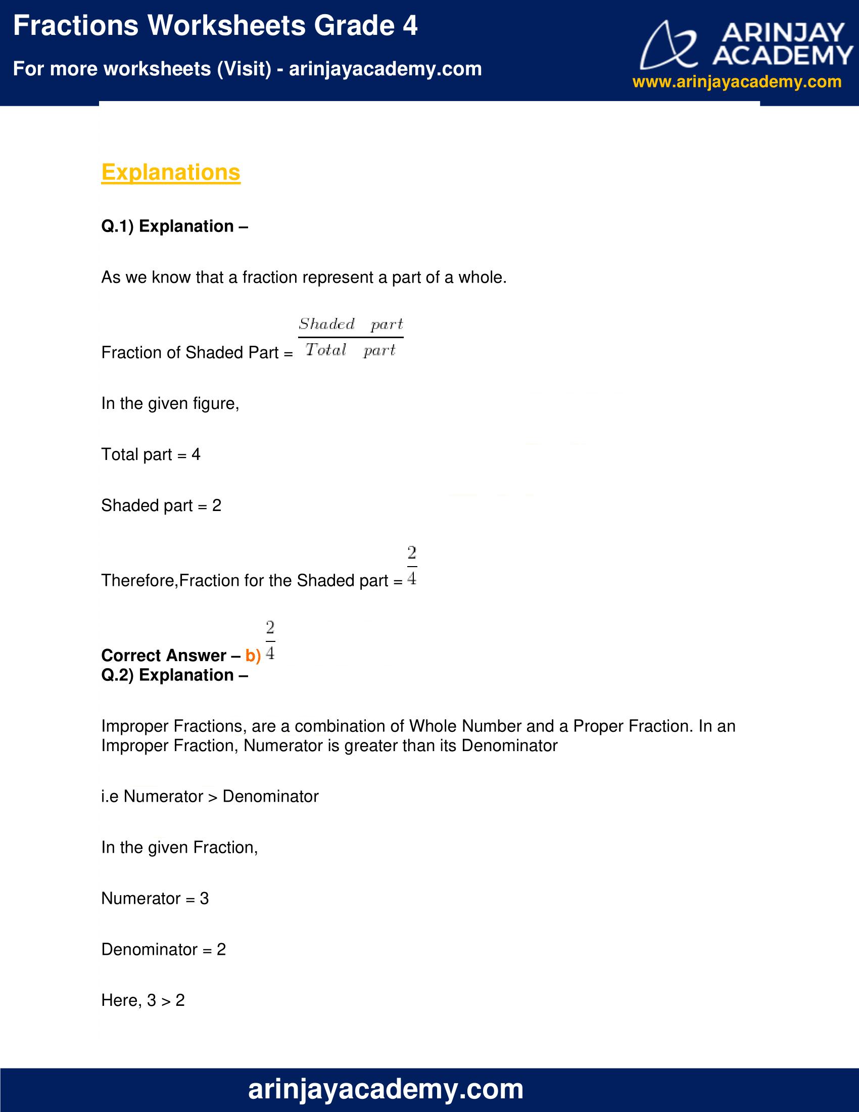 Fractions Worksheets Grade 4 image 6