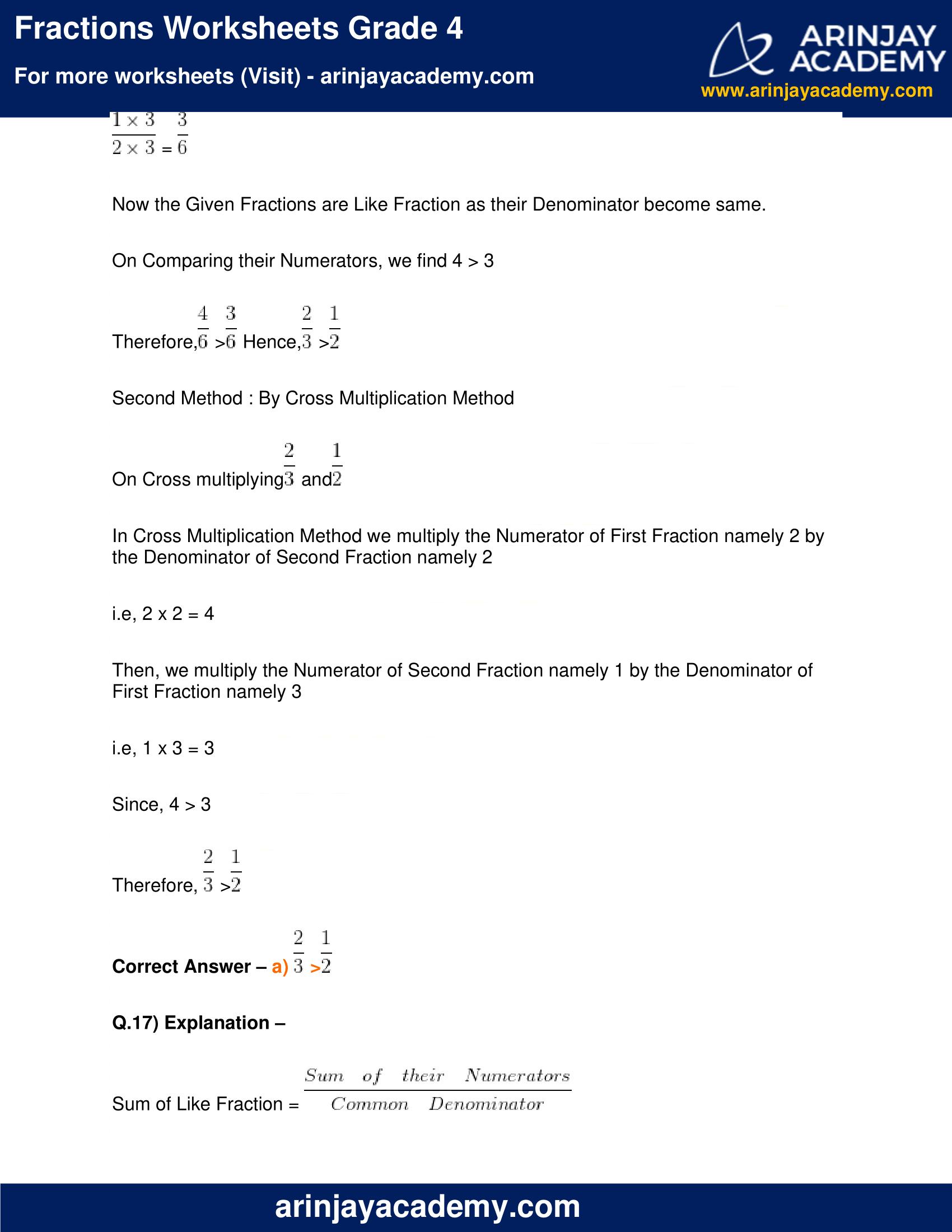 Fractions Worksheets Grade 4 image 15