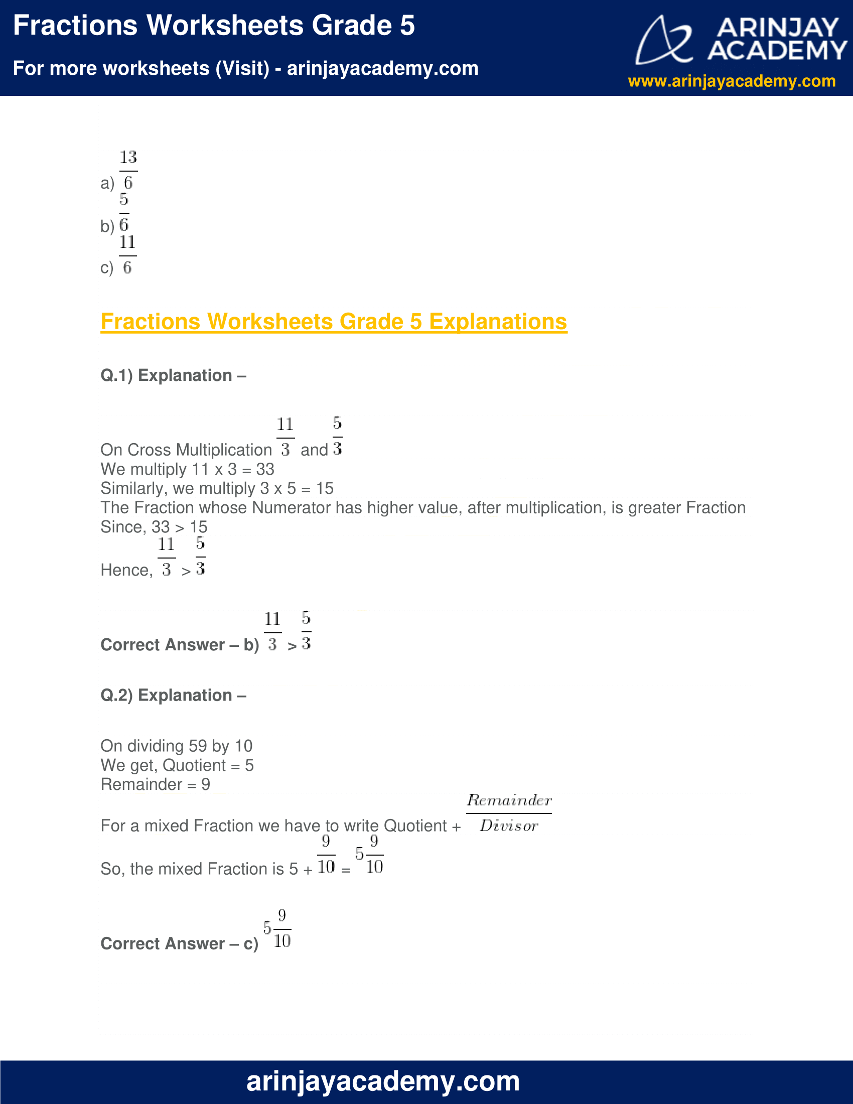 Fractions Worksheets Grade 5 image 4