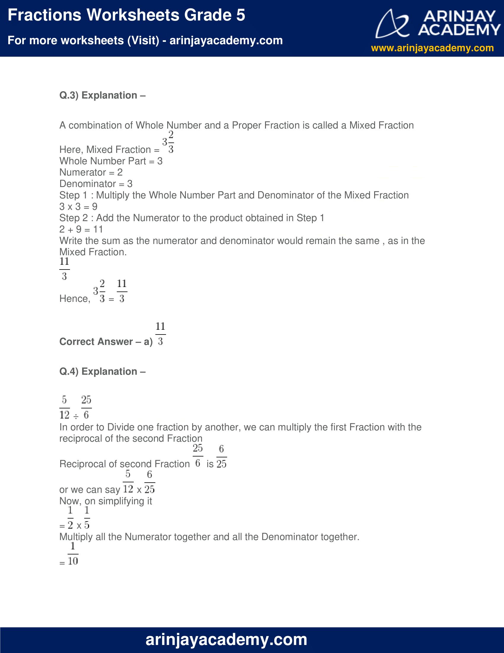 Fractions Worksheets Grade 5 image 5
