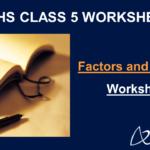 Factors and Multiples Worksheet for Grade 5