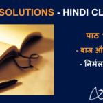 NCERT Solutions for Class 8 Hindi Vasant Chapter 17 - Baaj Aur Saanp