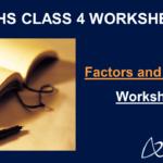 Factors and Multiples Worksheet Grade 4