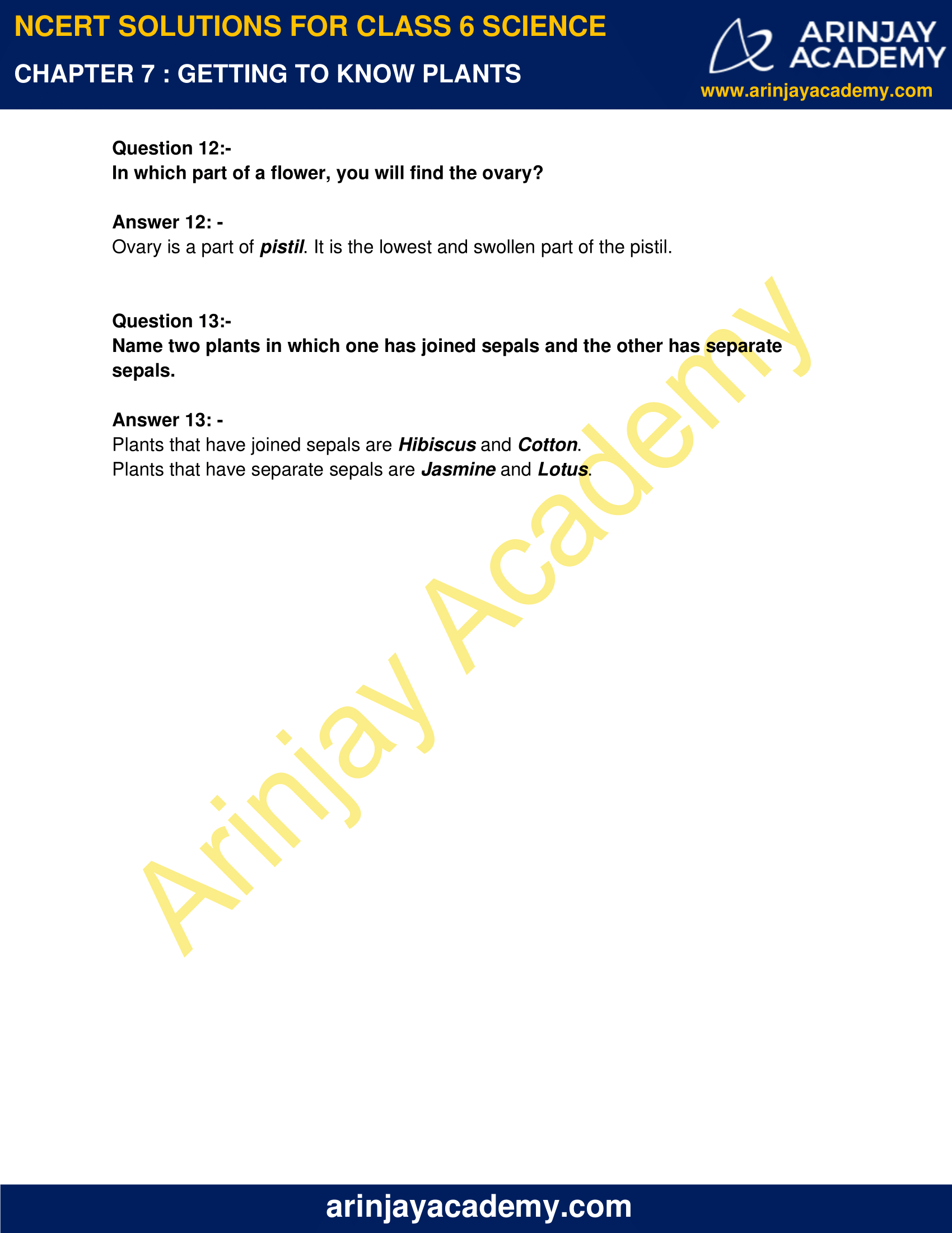 NCERT Solutions for Class 6 Science Chapter 7 image 5
