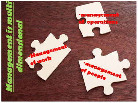 Characteristics of management - Management is multi dimensional