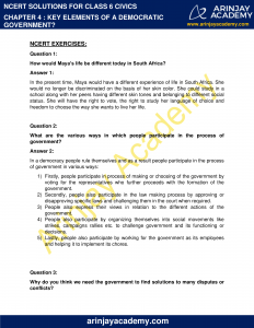 NCERT Solutions for Class 6 Civics Chapter 4 Key Elements of a Democratic Government image 1