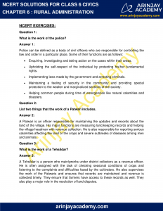 NCERT Solutions for Class 6 Civics Chapter 6 Rural Administration image 1