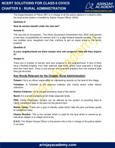 NCERT Solutions for Class 6 Civics Chapter 6 Rural Administration image 3