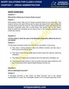 NCERT Solutions for Class 6 Civics Chapter 7 Urban Administration image 1