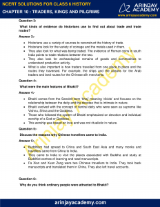 NCERT Solutions for Class 6 History Chapter 10 Traders, Kings and Pilgrims image 2
