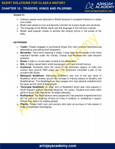NCERT Solutions for Class 6 History Chapter 10 Traders, Kings and Pilgrims image 3
