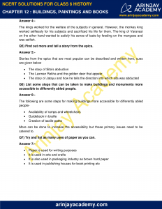 NCERT Solutions for Class 6 History Chapter 12 Buildings, Paintings and Books image 2