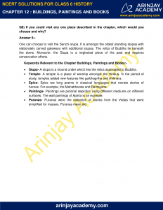 NCERT Solutions for Class 6 History Chapter 12 Buildings, Paintings and Books image 3