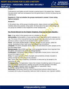 NCERT Solutions for Class 6 History Chapter 6 Kingdoms, Kings and an Early Republic image 3
