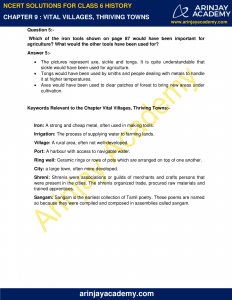 NCERT Solutions for Class 6 History Chapter 9 Vital Villages, Thriving Towns image 3