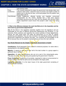 NCERT Solutions for Class 7 Civics Chapter 3 How the State Government Works image 2