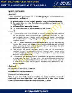 NCERT Solutions for Class 7 Civics Chapter 4 Growing up as Boys and Girls image 1