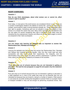 NCERT Solutions for Class 7 Civics Chapter 5 Women Change the World image 1