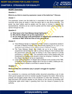 NCERT Solutions for Class 7 Civics Chapter 9 Struggles for Equality image 1