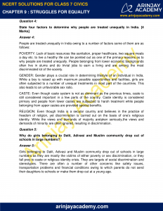 NCERT Solutions for Class 7 Civics Chapter 9 Struggles for Equality image 2