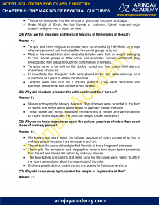 NCERT Solutions for Class 7 History Chapter 9 The Making of Regional Cultures image 2