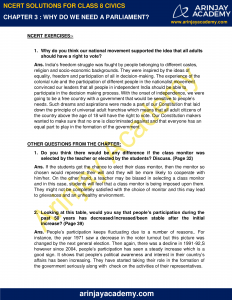 NCERT Solutions for Class 8 Civics Chapter 3 Why do we need a Parliament? image 1