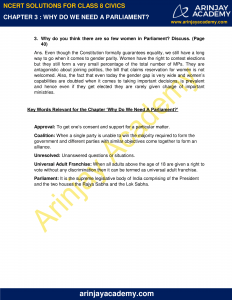 NCERT Solutions for Class 8 Civics Chapter 3 Why do we need a Parliament? image 2