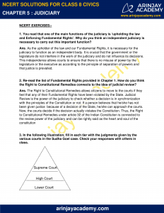 NCERT Solutions for Class 8 Civics Chapter 5 Judiciary image 1