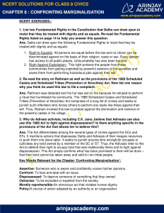NCERT Solutions for Class 8 Civics Chapter 8 Confronting Marginalisation image 1