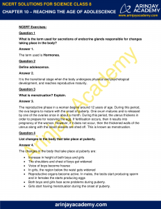 NCERT Solutions for Class 8 Science Chapter 10 Reproduction in Animals image 1