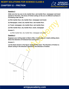 NCERT Solutions for Class 8 Science Chapter 12 Friction image 2