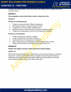 NCERT Solutions for Class 8 Science Chapter 12 Friction image 4