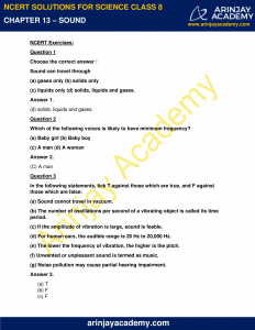 NCERT Solutions for Class 8 Science Chapter 13 Sound image 1