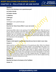 NCERT Solutions for Class 8 Science Chapter 18 Pollution of Air and Water image 3