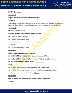 NCERT Solutions for Class 8 Science Chapter 3 image 1