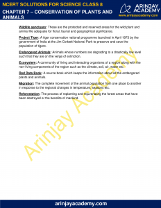 NCERT Solutions for Class 8 Science Chapter 7 Conservation of Plants and Animals image 9