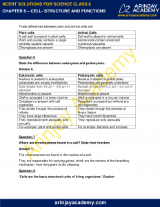 NCERT Solutions for Class 8 Science Chapter 8 Cell Structure and Functions image 3
