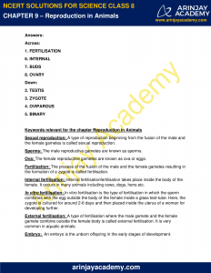 NCERT Solutions for Class 8 Science Chapter 9 Reproduction in Animals image 5