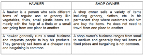 difference between hawker and shop owner