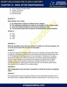 NCERT Solutions for Class 8 History Chapter 10 India After Independence image 2