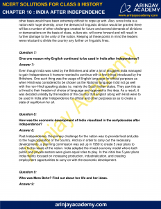 NCERT Solutions for Class 8 History Chapter 10 India After Independence image 3