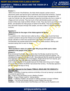 NCERT Solutions for Class 8 History Chapter 4 Tribals, Dikus and the Vision of a Golden Age image 2